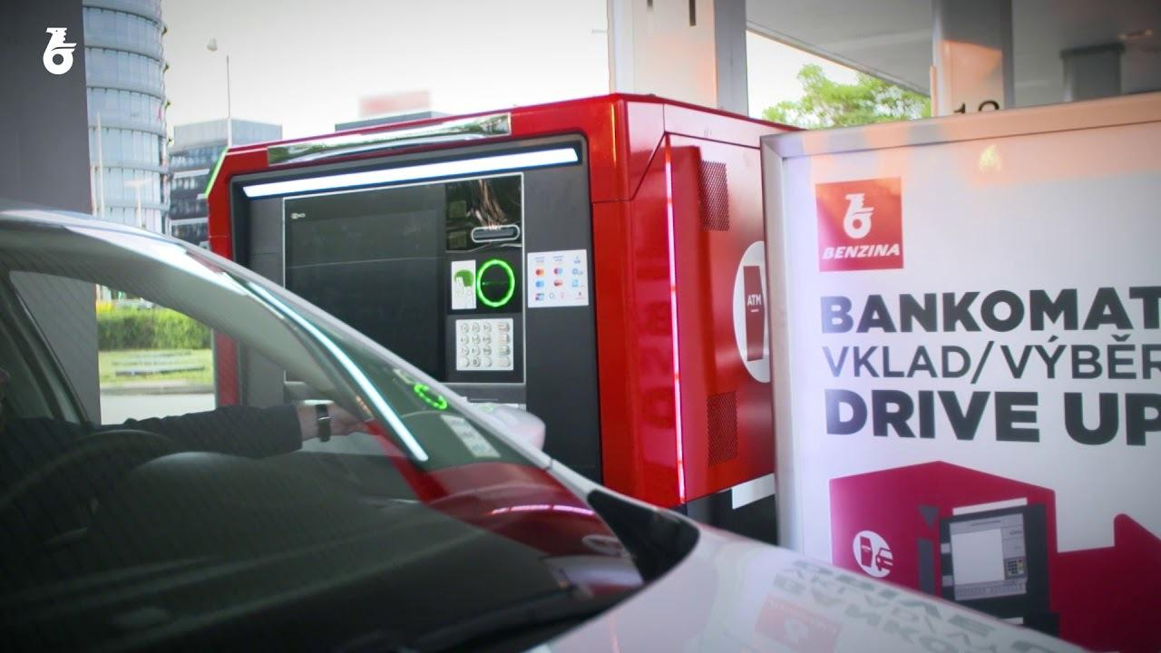 Drive-throught bankomat na čerpací stanici Benzina